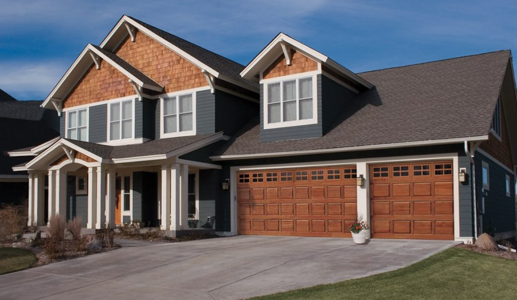 classic wood residential garage door