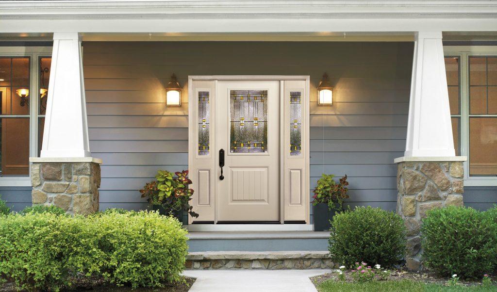 Smooth Fiberglass entry door