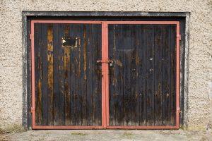 Old Garage Door that needs replaced