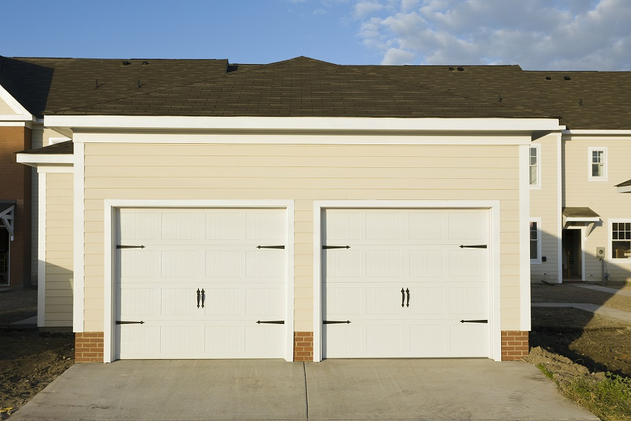 Twin house garages